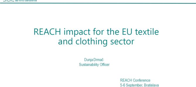 Zaujímavé novinky z textilného priemyslu – REACH konferencia 2019