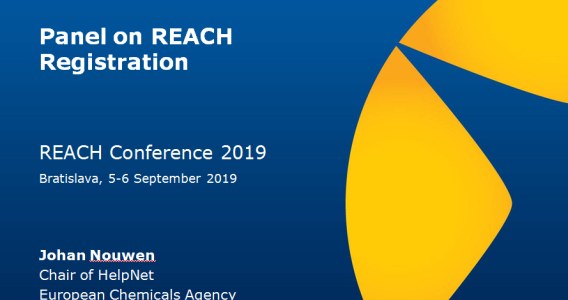PANEL – REACH REGISTRATION (*REACH Konferencia*)