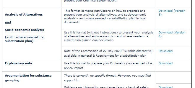 Aktualizované formáty pre žiadosti o REACH autorizácie